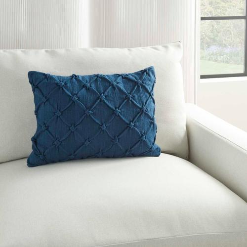 "Kathy Ireland Pillow Aa242 Navy 14"" X 20"" Throw Pillow"