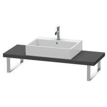 Console For Above-counter Basin And Vanity Basin Compact, Graphite Matte (decor)