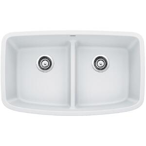 Valea® Equal Double Bowl With Low-divide - White