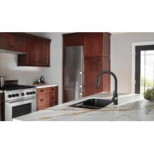 Matte Black Single Handle Pull-Down Kitchen Faucet