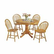 ACME Farmhouse 5Pc Pack Dining Set - 07021 - Oak Product Image