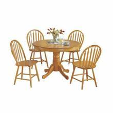ACME Farmhouse 5Pc Pack Dining Set - 07021 - Oak
