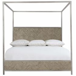 Queen-Sized Milo Canopy Bed in Morel