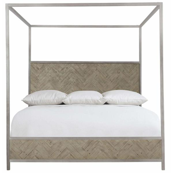 Queen Milo Canopy Bed in Morel