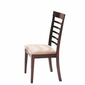 ACME Martini Side Chair (Set-2) - 08187 - Brown Cherry & Chrome