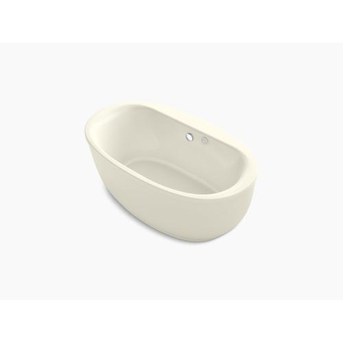 """Biscuit 66"""" X 36"""" Oval Freestanding Heated Bubblemassage Air Bath With Fluted Shroud"""