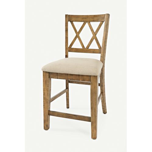Telluride Trestle Table & 4 Stools & Bench Natural Pine