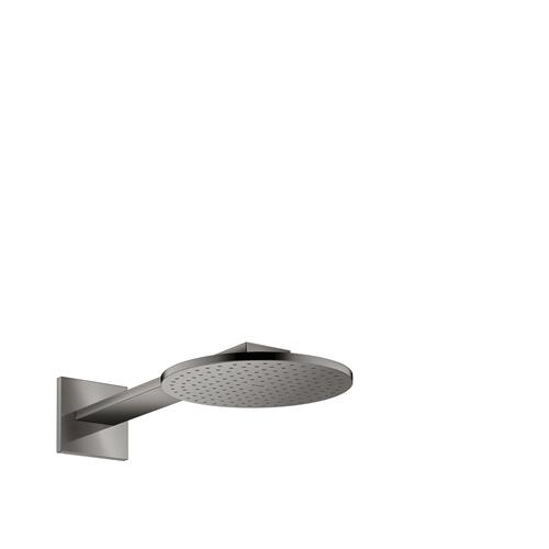 Polished Black Chrome Overhead shower 250 2jet with shower arm