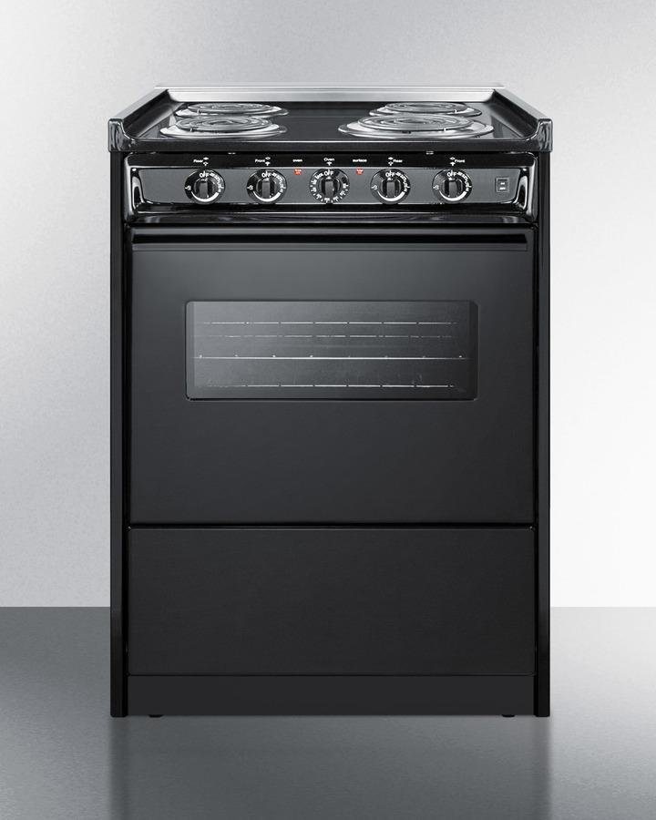 """Summit24"""" Wide Electric Coil Range"""