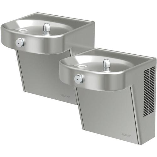 Elkay Cooler Wall Mount Bi-Level ADA Non-Filtered, 8 GPH Stainless
