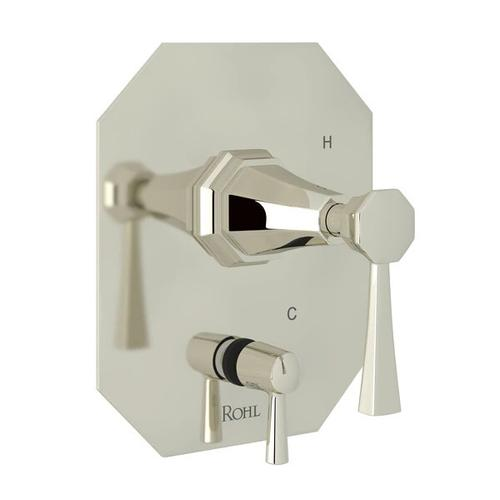 Deco Pressure Balance Trim with Diverter - Polished Nickel with Lever Handle