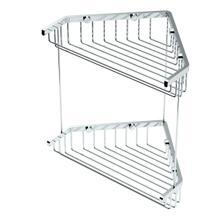 "Corner Shower Basket 10""H By 8 1/2""W in Chrome"