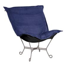 Scroll Puff Chair Bella Royal Titanium Frame