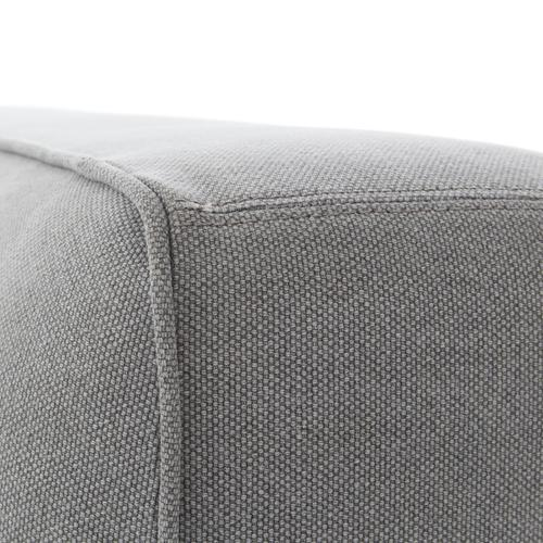 Queen Size Pebble Pewter Cover Aidan Bed