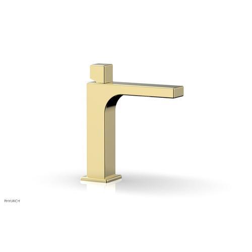 MIX Single Hole Lavatory Faucet, Cube Handle 290-08 - Polished Brass