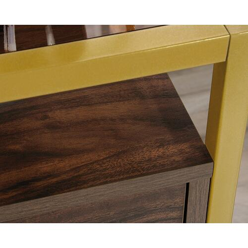 Sauder - Contemporary Wood & Metal Side Table