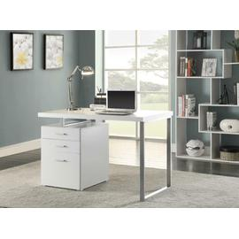 See Details - Contemporary White Writing Desk
