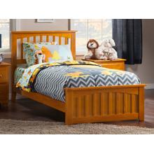 Mission Twin Bed with Matching Foot Board in Caramel Latte
