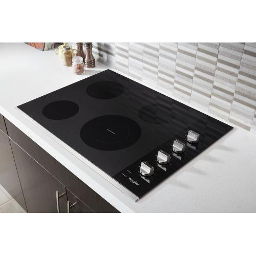 Whirlpool Canada - 30-inch Electric Ceramic Glass Cooktop with Dual Radiant Element
