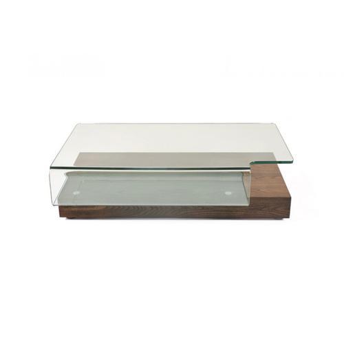 VIG Furniture - Modrest Mist Modern Elm and Glass Coffee Table