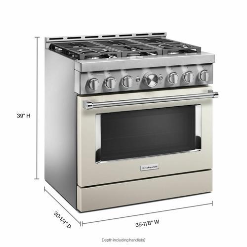 KitchenAid - KitchenAid® 36'' Smart Commercial-Style Gas Range with 6 Burners - Milkshake