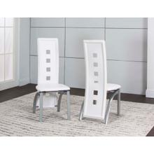 Valencia Side Chair-white 2pk
