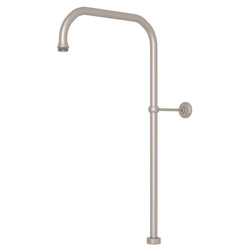 "Satin Nickel Perrin & Rowe 63"" X 15"" Rigid Riser Shower Outlet"