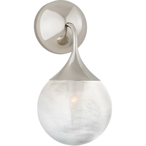 AERIN Cristol 1 Light 6 inch Polished Nickel Single Sconce Wall Light, Small