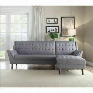 ACME Watonga Sectional Sofa - 53850 - Light Gray Linen