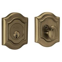 Satin Brass and Black Bethpage Deadbolt