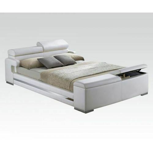 ACME Eastern King Bed w/Storage - 20677EK_KIT - White PU