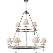 E. F. Chapman Classic 9 Light 45 inch Polished Nickel Chandelier Ceiling Light