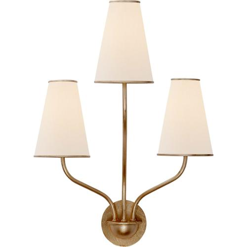 AERIN Montreuil 3 Light 17 inch Gild Wall Sconce Wall Light, Small