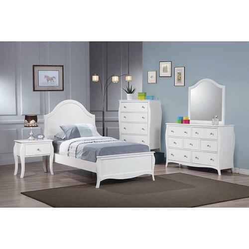Coaster - Dominique French Country White Full Four-piece Set
