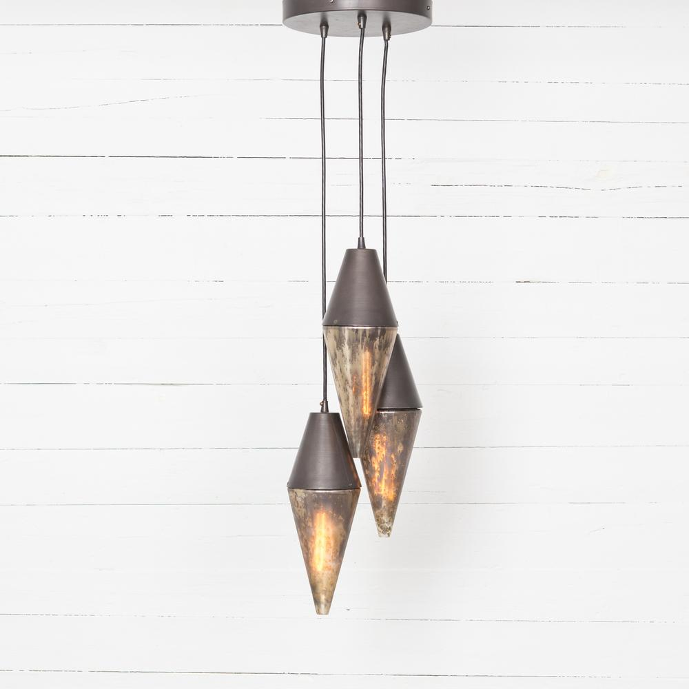 Cora Pendant-distressed Mercury
