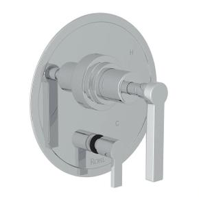 Lombardia Pressure Balance Trim with Diverter - Polished Chrome with Metal Lever Handle