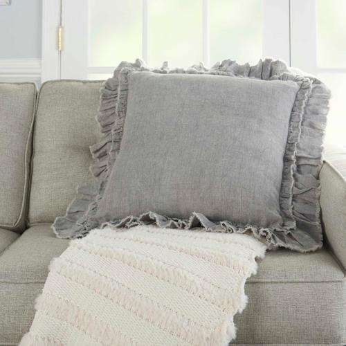 "Life Styles Ge901 Grey 24"" X 24"" Throw Pillow"