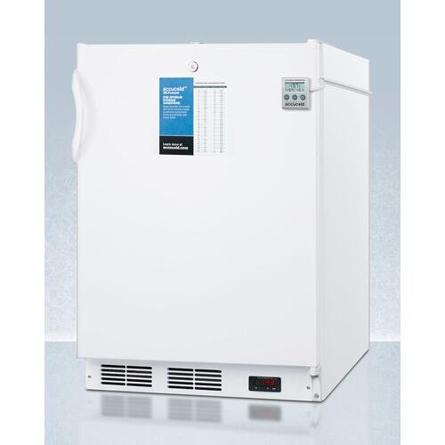 "ADA Compliant 24"" Wide All-freezer for Freestanding Use, Manual Defrost With A Nist Calibrated Thermometer, Lock, and -25 c Capability"