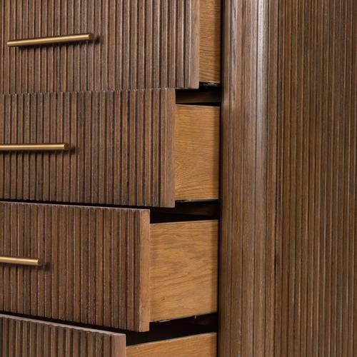 Four Hands - Fletcher 5 Drawer Dresser-bluestone