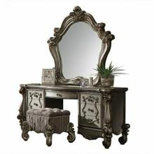ACME Versailles Vanity Desk - 26847 - Antique Platinum