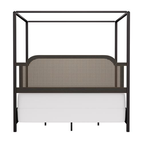 Gallery - Melanie Wood and Metal King Canopy Bed, Oiled Bronze