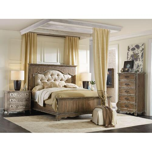 Bedroom Chatelet King Upholstered Mantle Panel Headboard