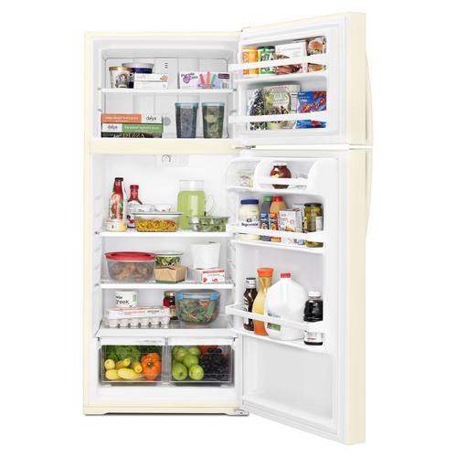 Whirlpool - 28-inch Wide Top Freezer Refrigerator - 16 cu. ft. Biscuit