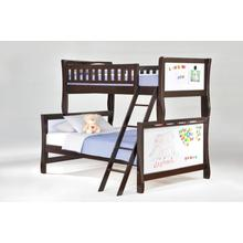 View Product - Scribbles Twin Full Bunk in Dark Chocolate Finish
