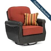 Breckenridge Swivel Rocker w/ Brick Red Cushion Product Image