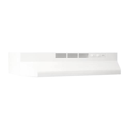 "30"" Ductless Under-Cabinet Range Hood with Light in White"