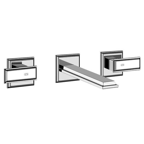 """TRIM PARTS ONLY Wall-mounted washbasin mixer trim Spout projection 8-1/4"""" Drain not included - See DRAINS section Requires in -wall rough valve 48089 Max flow rate 1"""
