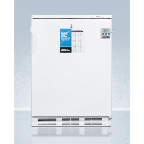 "24"" Wide All-freezer for Built-in Use, Manual Defrost With A Nist Calibrated Thermometer, Lock, and -25 c Capability"