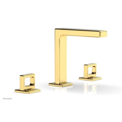 """MIX Widespread Faucet - Ring Handles 6-3/4"""" Height 290-03 - Polished Gold"""