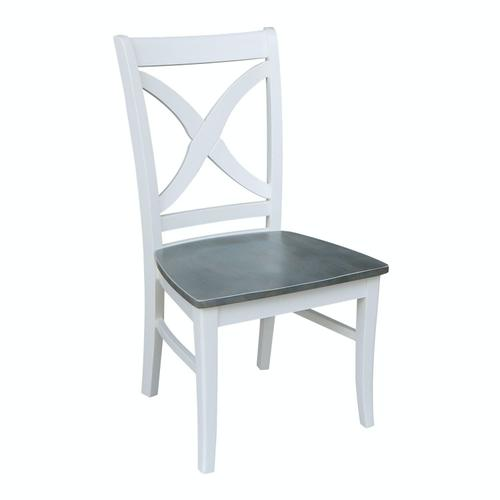 Salerno Chair in Heather Gray & White